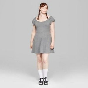 Wild Fable short sleeve gray mini dress xxl